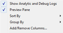Windows 8 Show Analytic and Debug Logs
