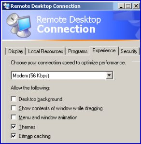 Terminal Services Remote Desktop Connection RDP Experience