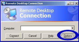 Terminal Services Remote Desktop Connection RDP Options