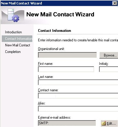 PowerShell - Create Mail Contact