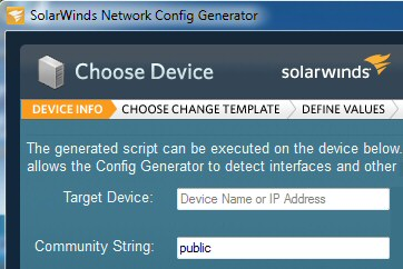 Solarwinds Network Config Generator