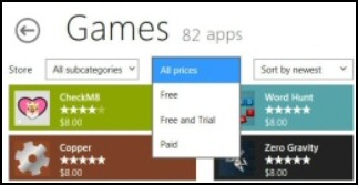 Windows App Store Games