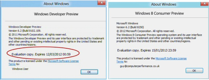Windows 8 Winver - When Expire?
