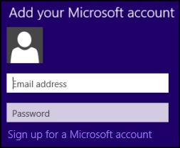 Windows 8 Apps Store Microsoft Account